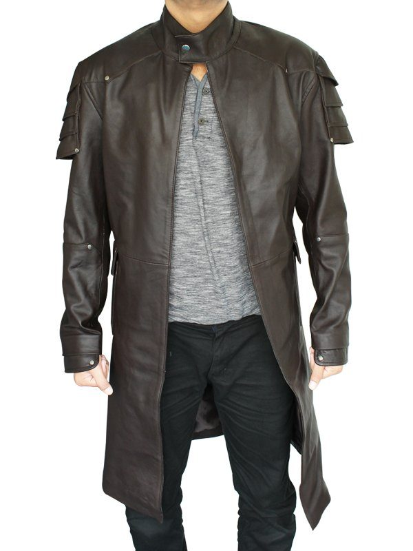 Jeremy Renner Hansel & Gretel Witch Hunters Brown Coat front