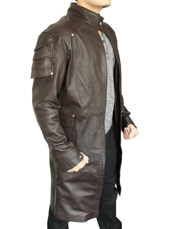 Jeremy Renner Hansel & Gretel Witch Hunters Brown Coat side
