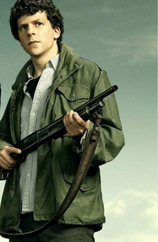 Jesse Eisenberg Zombieland Double Tap Green Cotton Jacket f