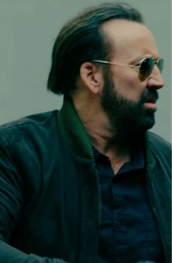 Kill Chain Nicolas Cage Bomber Suede Leather Jacket b