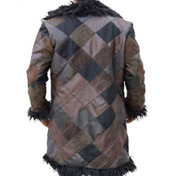 Klaus The Umbrella Academy Shearling Long Coat back