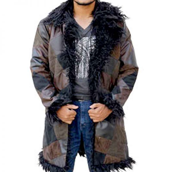 Klaus The Umbrella Academy Shearling Long Coat front