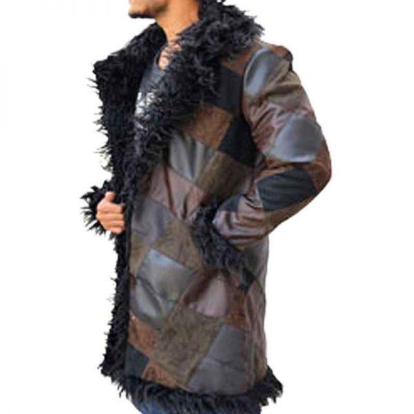 Klaus The Umbrella Academy Shearling Long Coat side