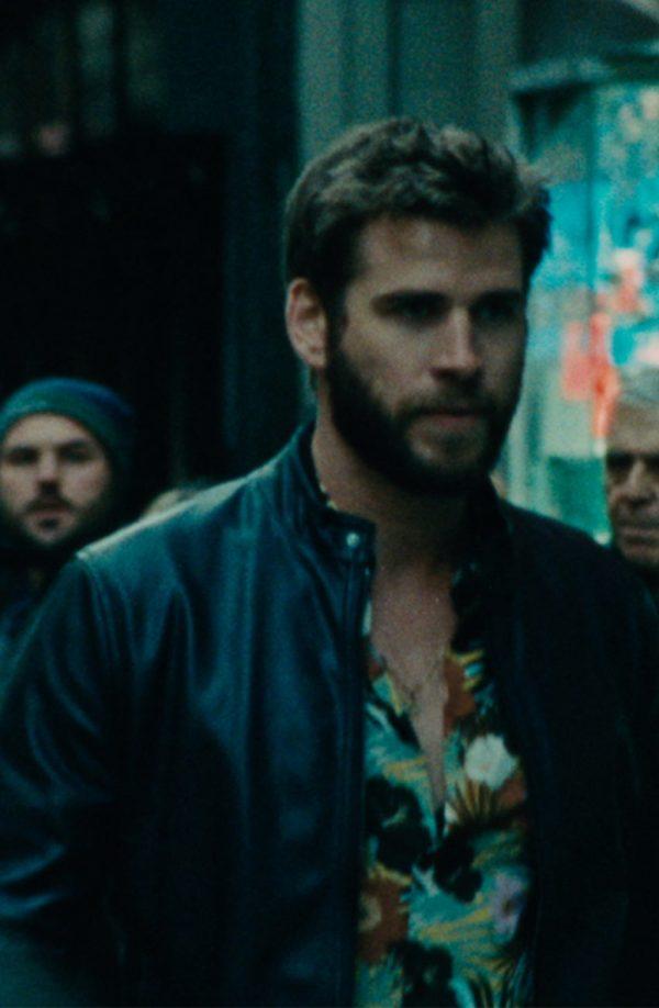 Liam Hemsworth Killerman Black Leather Jacket side