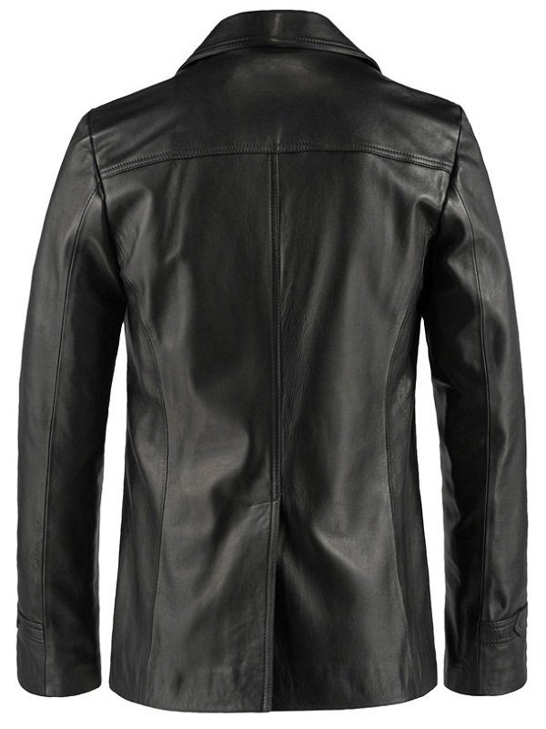 Life On Mars John Simm Black Leather Jacket back