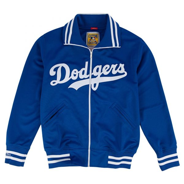 Los Angeles Dodgers 1981 Authentic Blue Bomber Satin Jacket front