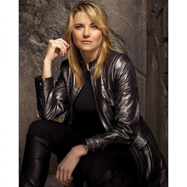 Lucy Lawless Battlestar Galactica Black Leather Jacket