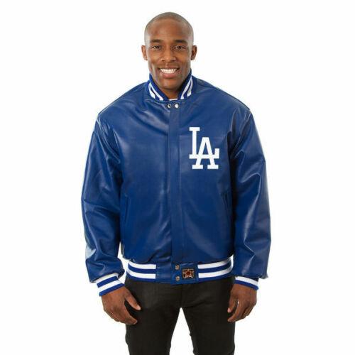 MLB Los Angeles Dodgers Royal Blue Leather Jacket front