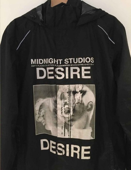 Midnight Studio Desire Black & White Hoodie Jacket black