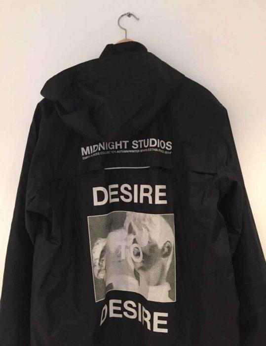 Midnight Studio Desire Black & White Hoodie Jacket back