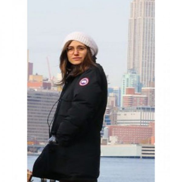 Modern Love Emmy Rossum Black Cotton Coat s
