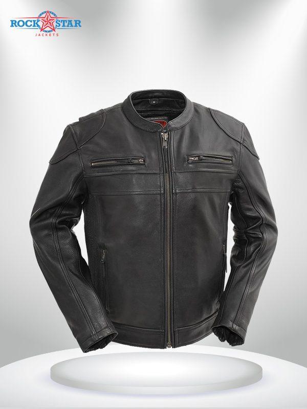 Nemesis Rockstar Men's Motorcycle Leather Jacket