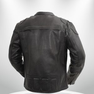 Nemesis Rockstar Men's Motorcycle Leather Jacket back