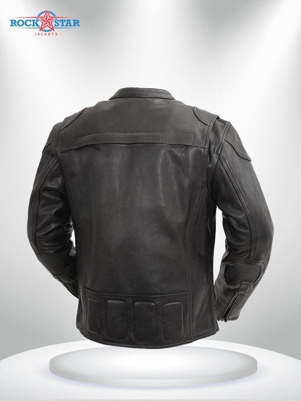 Nemesis Rockstar Men's Motorcycle Leather Jacket back