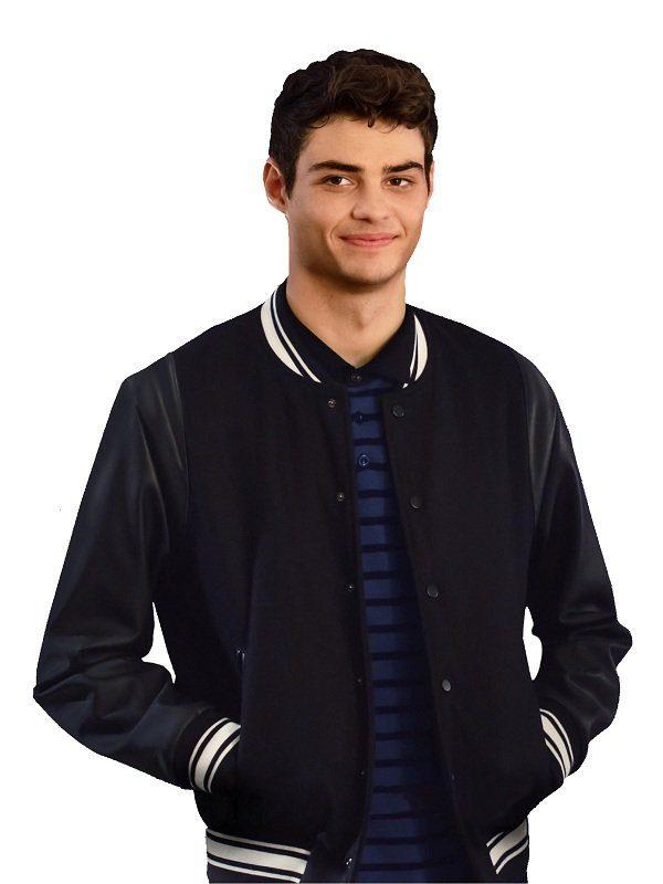 Noah Centineo The Perfect Date Black Varsity Jacket