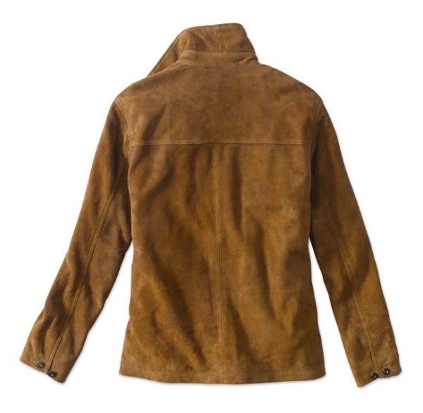 Orvis Rough Out Brown Suede Leather Jacket back