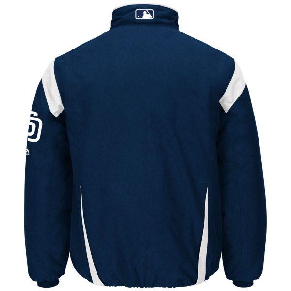 Padres San Diego Majestic Navy Authentic Premier Jacket back