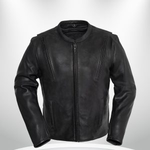Revolt Rockstar Men's Motorcycle Leather Jacket