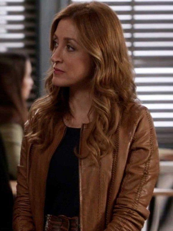 Rizzoli & Isles Sasha Alexander Brown Leather Jacket