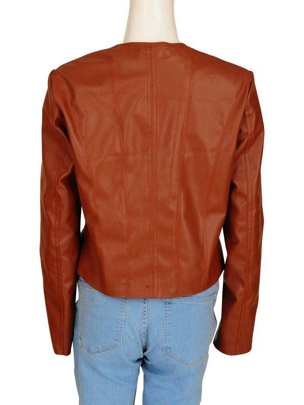 Rizzoli & Isles Sasha Alexander Brown Leather Jacket back