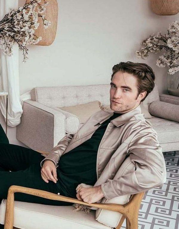 Robert Pattinson The Lighthouse White Jacket side