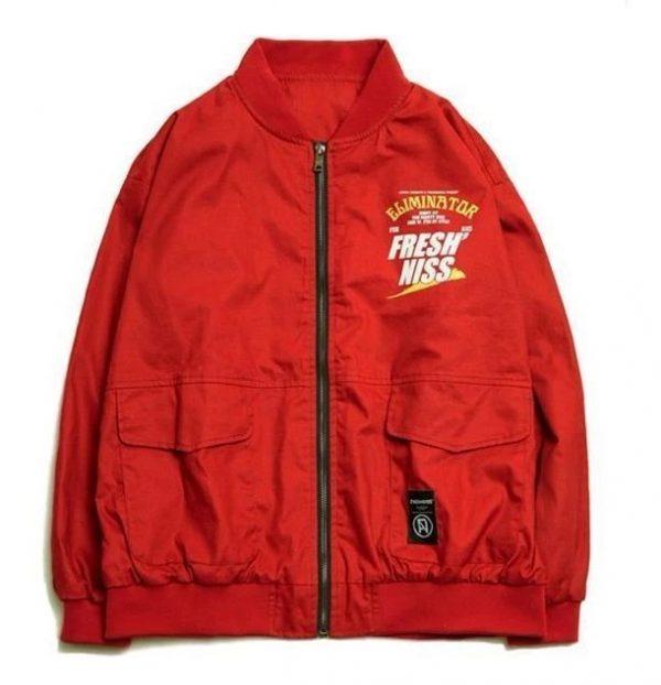 Rockstar Eliminator Bomber Red Jacket