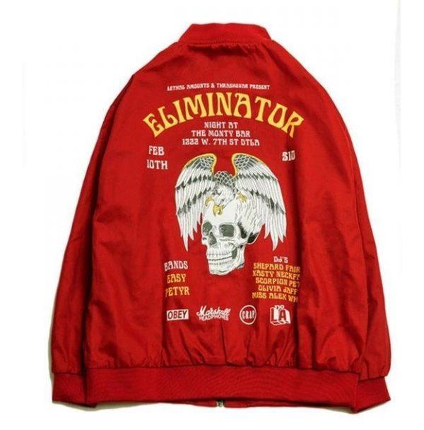 Rockstar Eliminator Bomber Red Jacket back