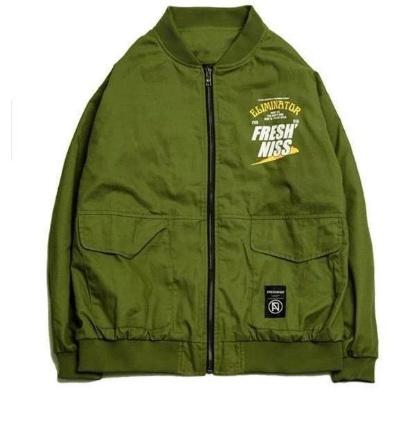 Rockstar Eliminator Green Bomber Jacket