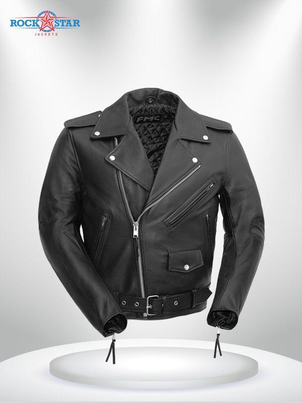 Rockstar Harley Davidson Black Men's Motorcycle Jacket
