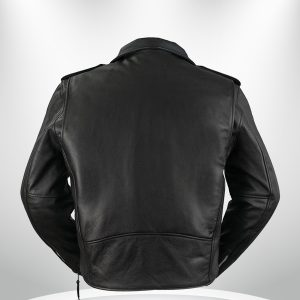 Rockstar Harley Davidson Black Men's Motorcycle Jacket back