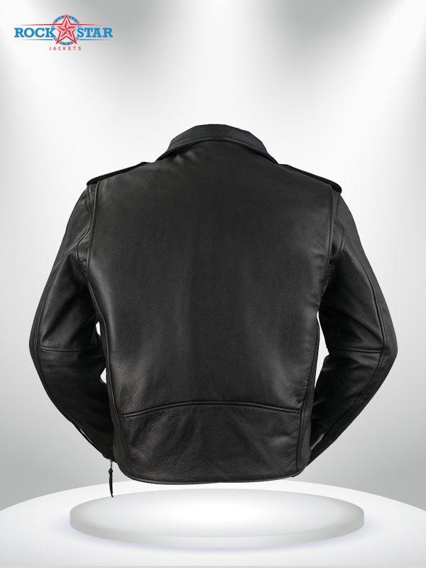 Rockstar Harley Davidson Black Men's Motorcycle Jacket back