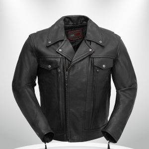Rockstar Mastermind Motorcycle Men's Black Leather Jacket