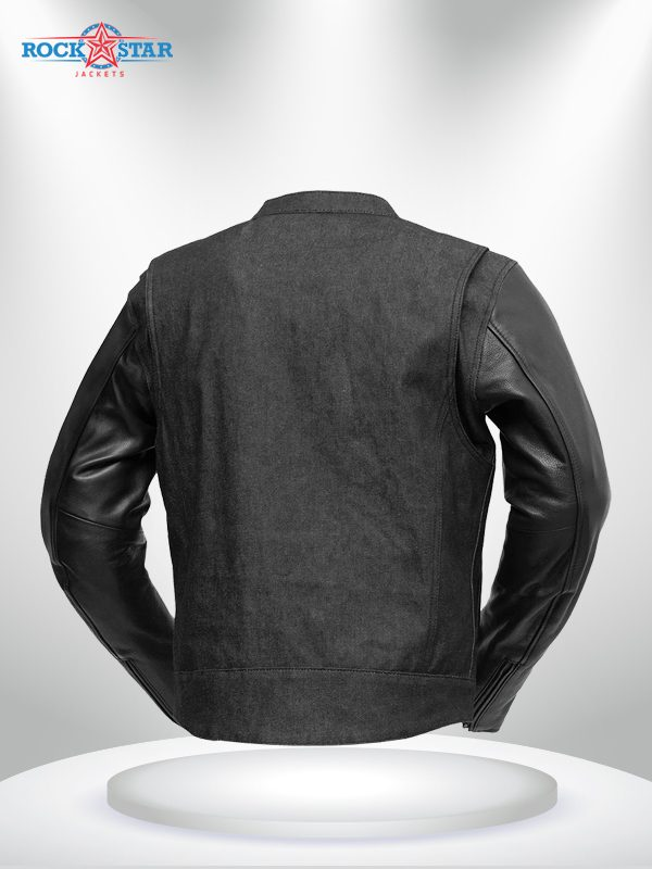 Rockstar Motorcycle Cutlass DenimLeather Jacket back