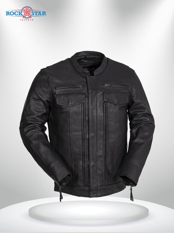 Rockstar Raider Black Men's Leather Jacket