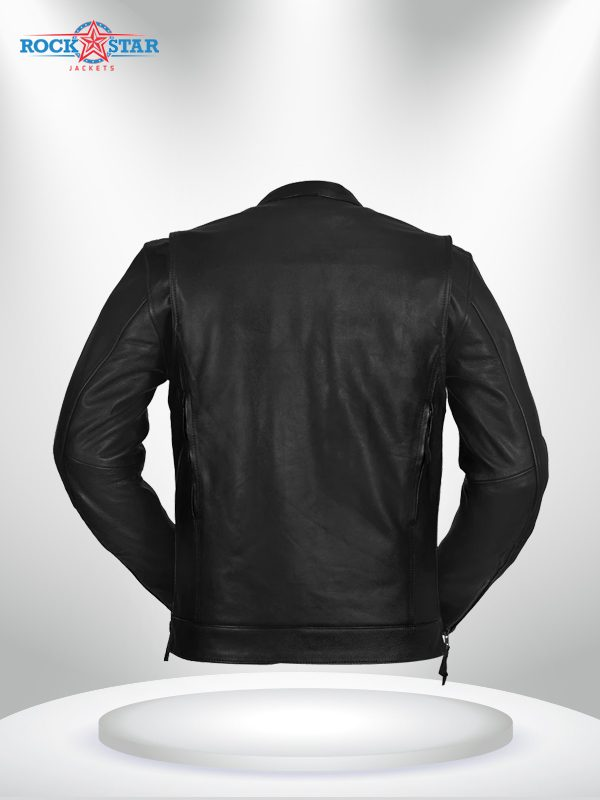 Rockstar Raider Black Men's Leather Jacket back