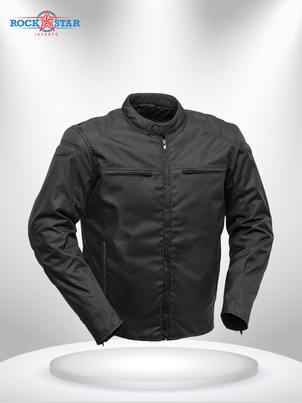 Rockstar Speedstar Motorcycle Codura Black Jacket