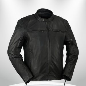 Rockstar Top Performer Men's Black Leather Jacket