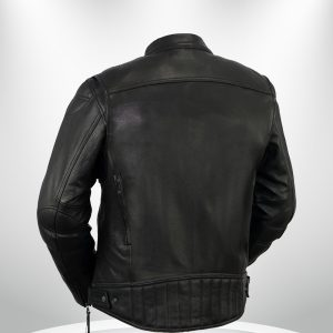 Rockstar Top Performer Men's Black Leather Jacket back
