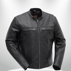 Rocky Rockstar Men's Motorcycle Black Leather Jacket