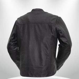 Rocky Rockstar Men's Motorcycle Black Leather Jacket back