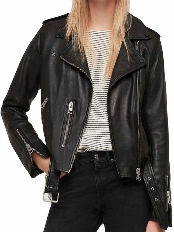 Rosa Diaz Brooklyn Nine-Nine S5 Black Leather Jacket front