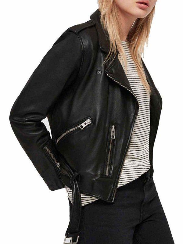 Rosa Diaz Brooklyn Nine-Nine S5 Black Leather Jacket side