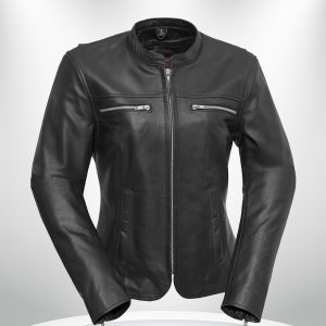 Roxy Rockstar Light Weight Cafe Style Black Leather Jacke