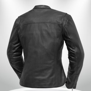Roxy Rockstar Light Weight Cafe Style Black Leather Jacke back