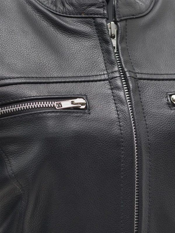 Roxy Rockstar Light Weight Cafe Style Black Leather Jacke side