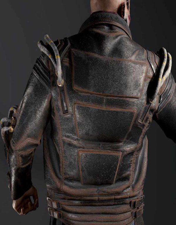 Royce Cyberpunk 2077 Black Leather Jacket back