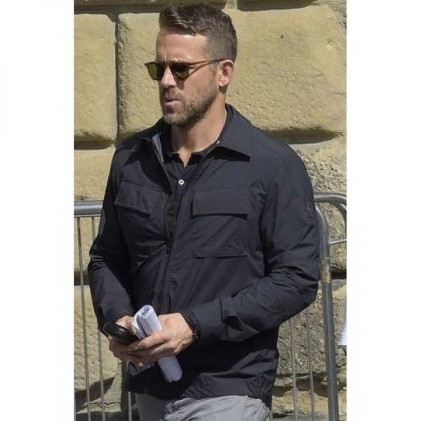 Ryan Reynolds 6 Underground Black Cotton Jacket front