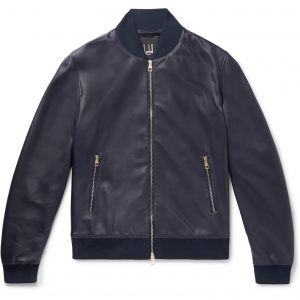 Ryan Reynolds 6 Underground Blue Bomber Leather Jacket