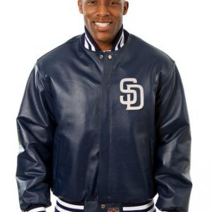 San Diego Padres Bomber Leather Jacket