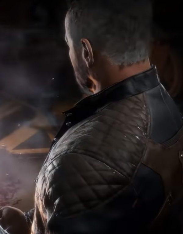 Terminator Mortal Kombat 11 T-800 Black Leather Jacket back